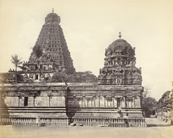 Tanjore Pagoda. View taken from SE corner of inner court